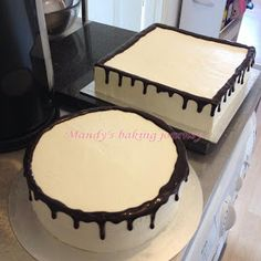 Mandy's baking journey: Two tiered Forest fruit cake