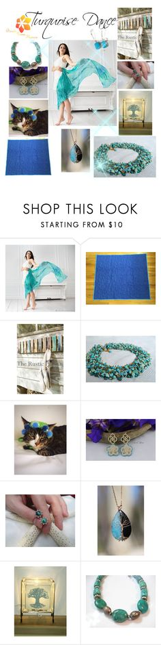 """""""Turquoise Dance"""" by varivodamar ❤ liked on Polyvore featuring modern"""