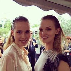Models outside the #MarcCain #SS15 show with slicked back hair and iridescent pumpkin-coloured eyeshadow. Go on, #trialatrend. http://sulia.com/channel/models/f/258b5dd68f03738128646034979a4065/?source=pin&action=share&ux=mono&btn=small&form_factor=desktop&sharer_id=118487941&is_sharer_author=false&pinner=118487941