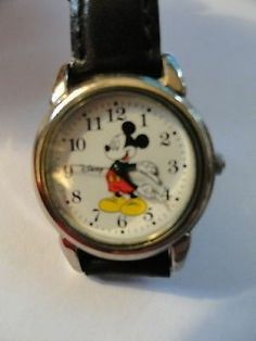 Disneyana Mickey Mouse Wrist Watch Comfortable And Easy To Wear Watches, Timepieces
