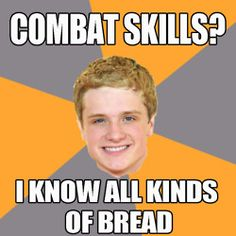 We've rounded up 20 of the best memes from 'The Hunger Games' including Advice Peeta, Sad Gale, and Advice Katniss. Hunger Games Memes, The Hunger Games, Hunger Games Catching Fire, Hunger Games Trilogy, Katniss Everdeen, Katniss Und Peeta, Johanna Mason, Suzanne Collins, Juegos Del Ambre
