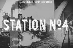 Station font. a bold headline typeface inspired by old Train Station type and graphics. It can be used in a modern and retro way, and it's different patterns and styles give a unique look to any design.