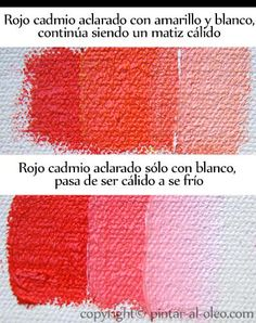cambio de temperatura color rojo aclarado con blanco y amarillo Acrylic Painting Tutorials, Acrylic Art, Painting Lessons, Painting Tips, Elly Smallwood, Drawing Practice, Color Theory, Art Tutorials, Creative Art