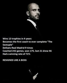 Pep Guardiola....my coaching inspiration.