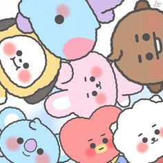 Funny Phone Wallpaper, Cute Disney Wallpaper, Cute Cartoon Wallpapers, Bts Wallpaper, Bts Chibi, Bts Taehyung, Bts Jimin, Cute Kawaii Drawings, Kpop Drawings