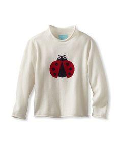 Bambeeno Cashmere Girl's Intarsia Sweater