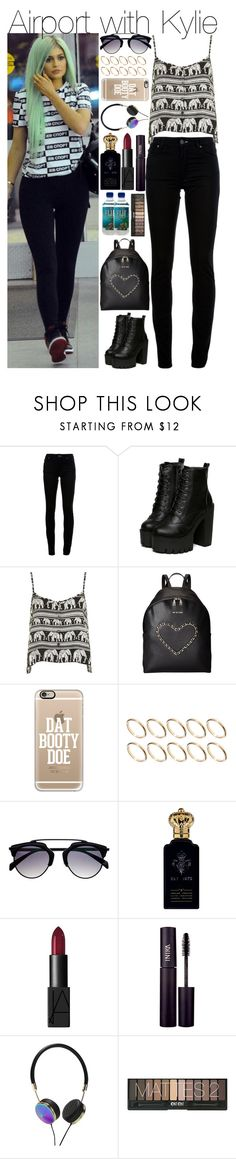 """""""Airport with Kylie"""" by mrspayne-1d ❤ liked on Polyvore featuring Acne Studios, Motel, Love Moschino, Casetify, ASOS, Clive Christian, NARS Cosmetics, INIKA and Frends"""