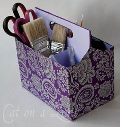 Cute DIY Tool Caddy | Craft Organization Hack Ideas by DIY Ready at  http://diyready.com/organization-hacks-diy-storage-ideas/