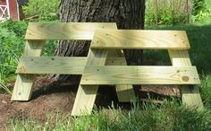 Completed bench legs