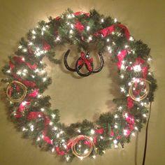 Cowboy Christmas Wreath