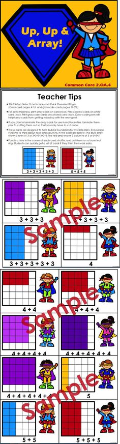 Array cards designed to help build a foundation for multiplication by encouraging students to think about rows and columns. $
