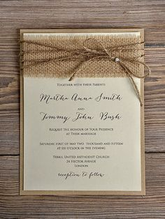 Three Key Elements of Rustic Wedding Invitations