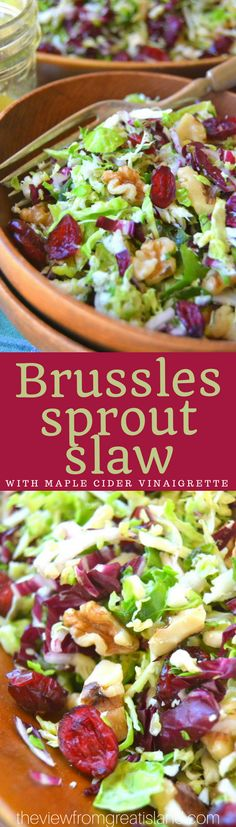 Brussels Sprout Slaw with Maple Cider Vinaigrette