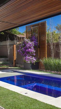 Backyard Pool Designs, Small Backyard Pools, Modern Backyard, Swimming Pools Backyard, Swimming Pool Designs, Small Pools, House Outside Design, Small Pool Design, Bungalow House Design