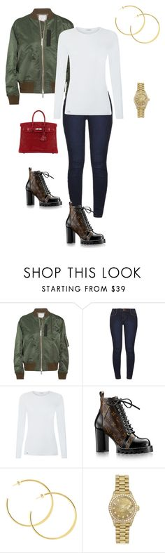 """""""Untitled #155"""" by sb187 ❤ liked on Polyvore featuring Sacai, Dorothy Perkins, La Perla, Rolex and Hermès"""