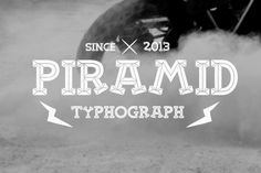 Piramid Font by alit_design on @creativemarket