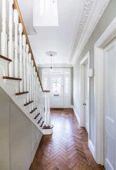road modern corridor, hallway & stairs by concept eight architects modern. Ashley road modern corridor, hallway & stairs by concept eight architects modern Hallway Designs, Kitchen Plans, House Interior, Victorian Interior Design, House, New Homes, Home Remodeling, House Entrance, Stairs
