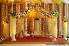 Image result for indian wedding decoration Indian Wedding Decorations, Wedding Stage, Fair Grounds, Bridal, Backstage, Events, God, Weddings, Image