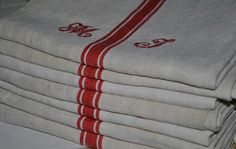 French Vintage Linen  Monogramed Towel by ForTheLoveOfFrance, $43.00