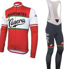 La Casera–Peña Retro Long Sleeve Cycling Kit – Online Cycling Gear Cycling Bibs, Cycling Wear, Cycling Shorts, Cycling Outfit, Cycling Clothing, Cycling Jerseys, Road Cycling, Winter Cycling Gear, Snowboarding Outfit