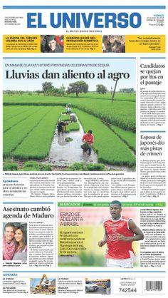 Portada de #DiarioELUNIVERSO de este viernes 10 de enero del 2014. Las #noticias del día en: www.eluniverso.com #Ecuador