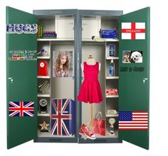 """""""An English Girl's Locker"""" by kaitlinisenchanted ❤ liked on Polyvore featuring interior, interiors, interior design, home, home decor, interior decorating, INC International Concepts, Therapy, Converse and Orla Kiely"""