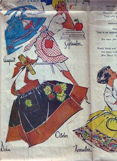Willow Homestead: Apron Challenge : Let's Begin Vintage Patterns, Sewing Patterns, Modern Aprons, Rummage Sale, Art Through The Ages, Superhero Capes, Poster Ads, Aprons Vintage, Clothes Line