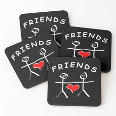Pre School, High School, Love You Friend, Friend Friendship, Couple Shirts, One Sided, Cold Drinks, Coaster Set, Drink Sleeves