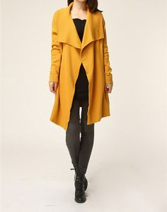 Hey, I found this really awesome Etsy listing at http://www.etsy.com/listing/162853303/yellow-sweater-coat-knitwear-wool-dress