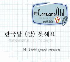 No hablo (bien) coreano.