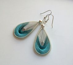 Breezin' Handwoven Thread Earrings by southernbreezestudio on Etsy, $10.00