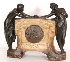 Art Nouveau terracotta clock