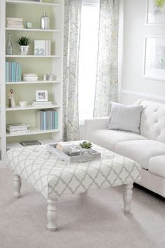 DIY Upholstered Ottoman: How to make an ottoman out of a table | Not so Newlywed McGees