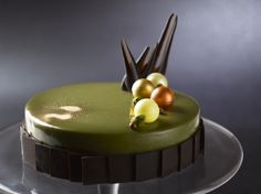 Our decadent Bronte Pistachio Chocolate Cake from Dolcetto, Regent Singapore, is a must-have for any dinner!