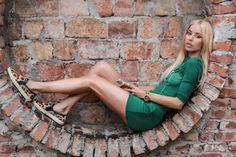 Little Green Secret by Alina Ceusan Sweet Style, My Style, Style Casual, Streetwear Fashion, Green Dress, Dress To Impress, Summer Outfits, Street Wear, Women Wear