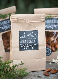coffee bags can be used for candies as well ... add custom labels