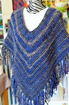 Ravelry: Project Gallery for Garter Stitch Poncho pattern by Betts Lampers
