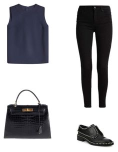 """""""Senza titolo #50"""" by annadallolio ❤ liked on Polyvore featuring Victoria, Victoria Beckham, Alexander Wang and Hermès"""