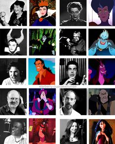 10 Great Disney Villians & their voice actors. (From the 10 Disney Princess Films) - Lucille La Verne as Queen Grimhilde, Eleanor Audley as Lady Tremaine & Maleficent, Pat Carroll as Ursula, Richard White as Gaston, Jonathan Freeman as Jafar, David Ogden Stiers as Governor Ratcliffe, Miguel Ferrer as Shan Yu, Keith David as Doctor Facilier, Donna Murphy as Mother Gothel.