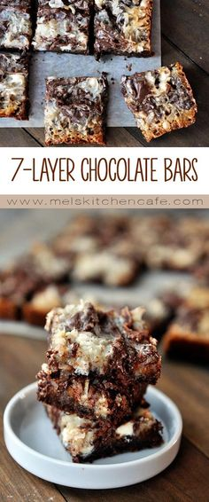 These death by chocolate 7-layer bars are like one big pan of gooey, decadent chocolate bliss.