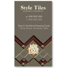 Brown Tile Business Card Plumbing Business Card Templates