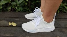 New NMD R1 Triple White Sneaker with Big Discount! Don't Miss