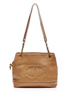 Vintage Chanel For Sale. We Repeat: Vintage Chanel Is For Sale #refinery29  http://www.refinery29.com/2013/12/58745/chanel-moda-operandi-sale#slide-5  Vintage Chanel Beige Caviar Embossed Tote, $4,650, available at Moda Operandi....