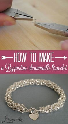 Chainmaille isn't just for sword-wielding Medieval soldiers -- it also makes for a stunning modern piece of jewelry. Learn how to make your own Byzantine weave bracelet with this DIY jewelry tutorial. it makes for a perfect gift idea for someone special i