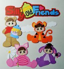 SYD Pooh and Friends Set Handmade Paper Piecing Scrapbook Album Card