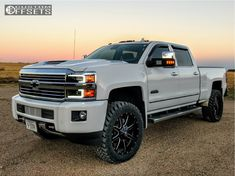 This 2017 Chevrolet Silverado 2500 HD is running Fuel 538 25 wheels Nitto Trail Grappler tires with Stock Leveling Kit suspension. Chevrolet Silverado 2500, Chevy Duramax, Silverado Truck, Chevy Chevrolet, Suv Trucks, Lifted Chevy Trucks, Diesel Trucks, Pickup Trucks, Chevrolet Trucks