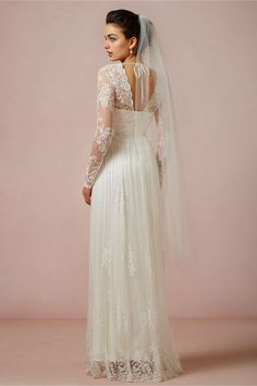 Lia Gown in Bride Wedding Dresses at BHLDN - literally so perfect.