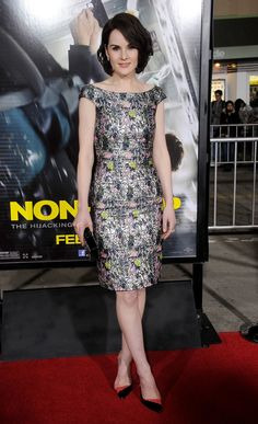 Dior S14 dress and Christian Louboutin pumps at 2014 Non-Stop premiere in LA.