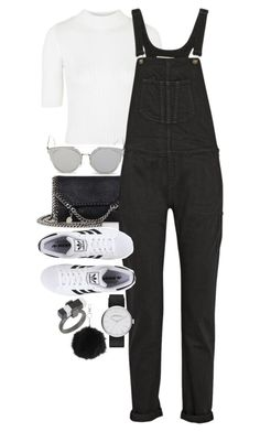 """Untitled #10759"" by theleatherlook ❤ liked on Polyvore featuring Topshop, STELLA McCARTNEY, rag & bone, GANT, adidas Originals and Marc Jacobs"