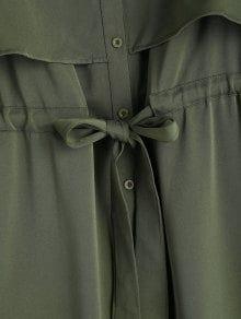 Long Sleeve Belted Button Up Shirt Dress